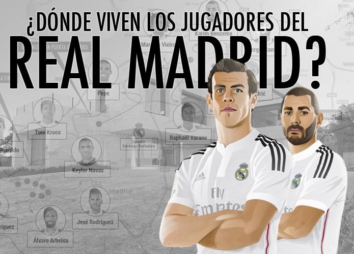 Portada infografia casas jugadores real madrid