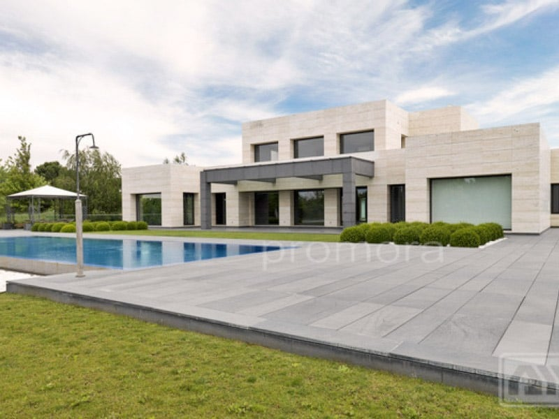 Chalet moderno la finca blog de inmobiliaria promora for Fachadas de chalets modernos