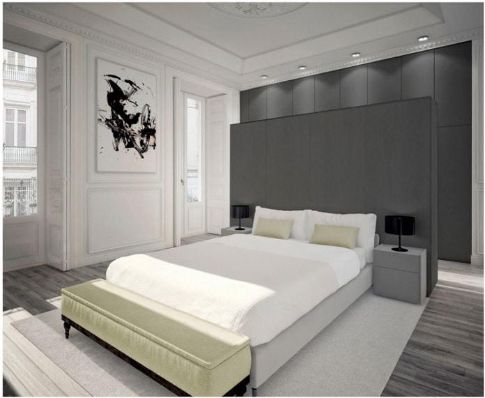 Dormitorio ático lujo
