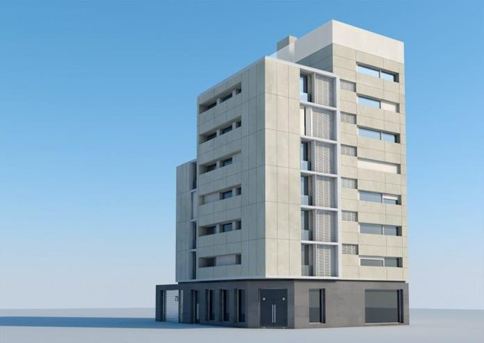 Edificio pisos en el barrio de Salamanca