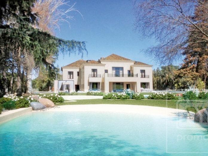 10 piscinas en chalets de madrid blog de inmobiliaria - Piscina tipo playa ...