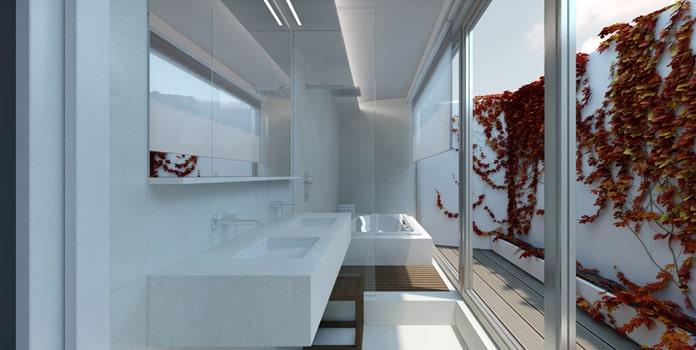 Cuarto de baño the clover residencial