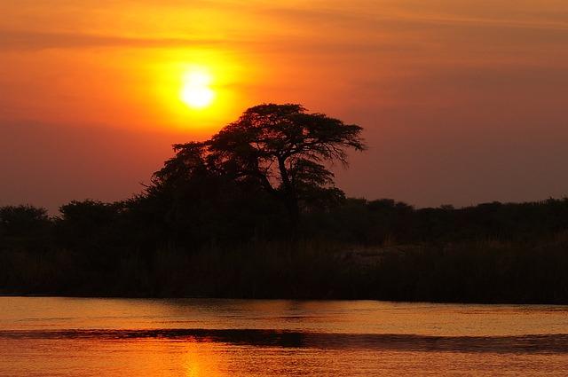 Puesta de sol africana