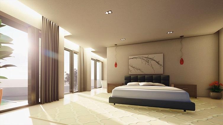 Dormitorio de grandes dimensiones