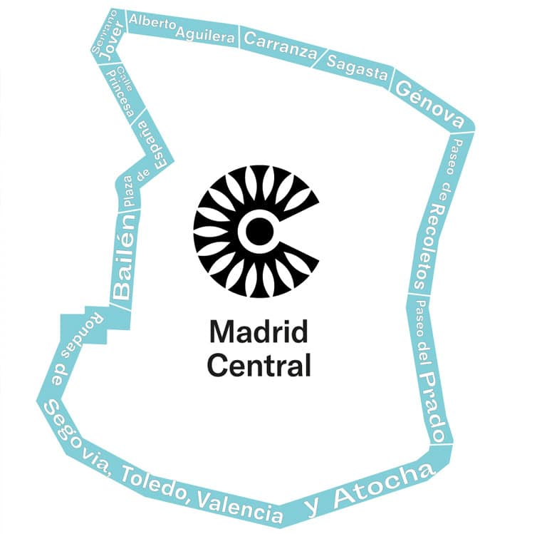 Mapa limites Madrid Central