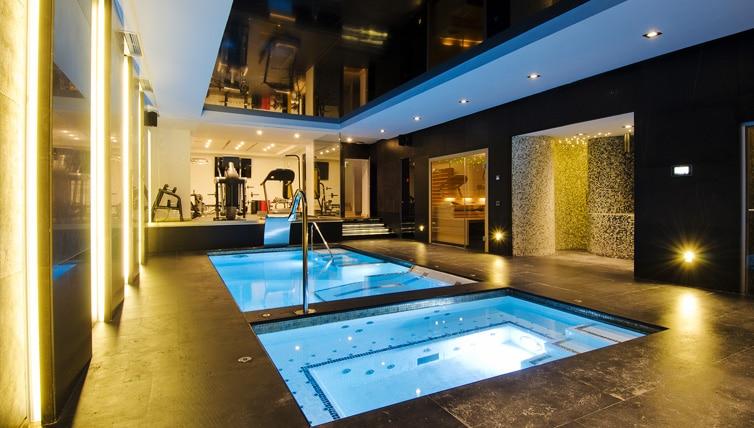 Spa privado en chalet de lujo